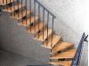 1000-009 Escalera con peldaños de madera