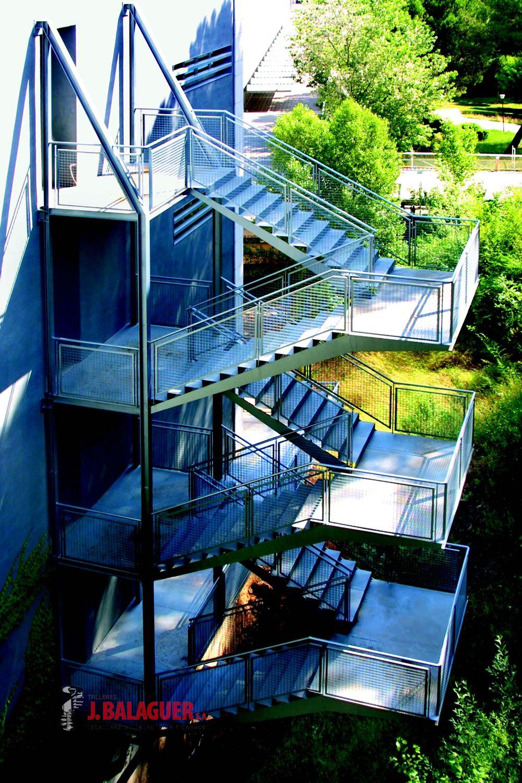Escalera Emergencia Tramos Rectos Escaleras Balaguer