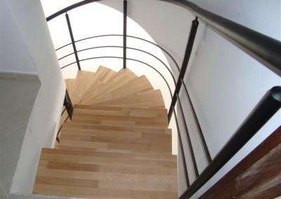 Escaleras caracol metalicas fundicion