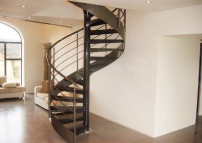 Metal spiral stairs Model MGD metal