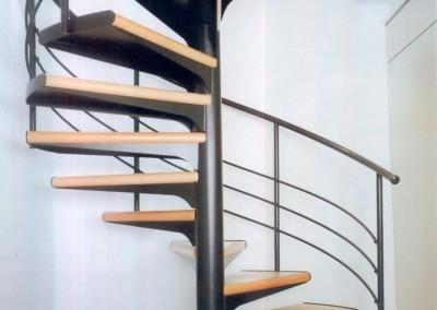 Escalera Caracol Modelo M1 barandilla H3